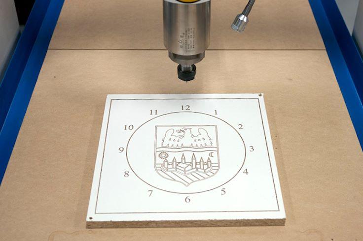 Clock on CNC Machine