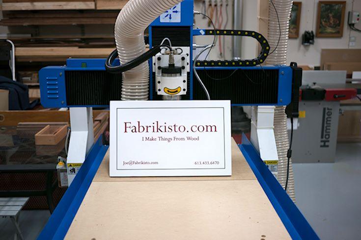 Fabrikisto Sign on CNC Machine
