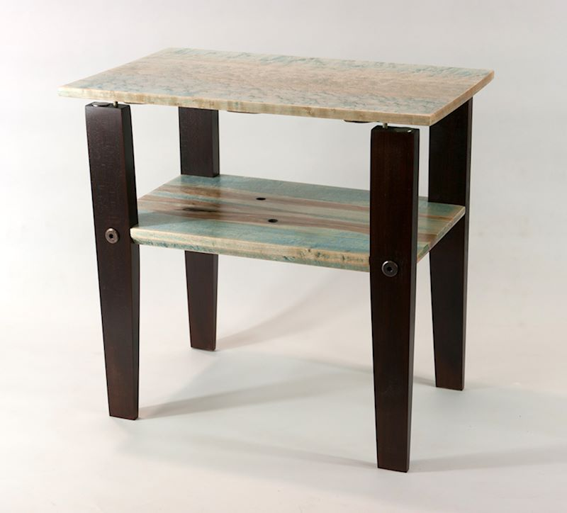 Blue Tint Floating Top Table