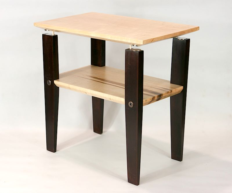 Tapped Maple Floating Top Table