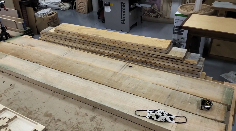 Maple boards for LSP Fountain
