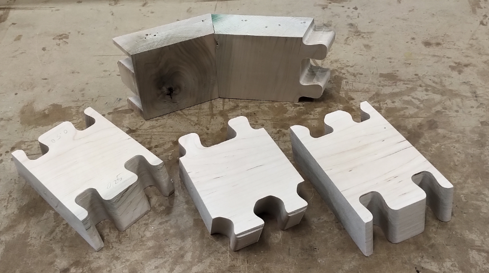 Inner  joint and test pieces