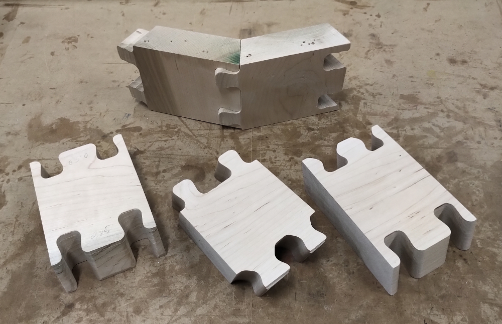 Outer  joint and test pieces