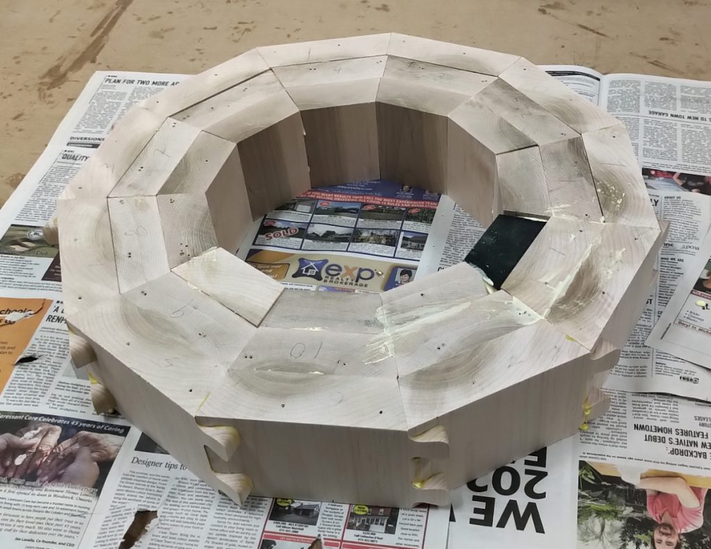 Base partly infilled